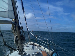 Following Kirkcudbridght range boat
