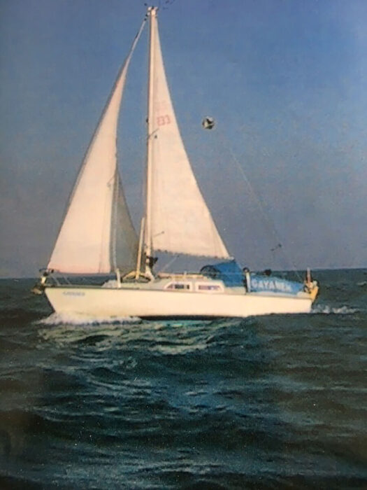 Gayaneh sailing acrosss the English Channel