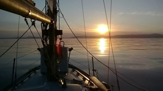 Approaching Isle of Man, sunset 1.7.14