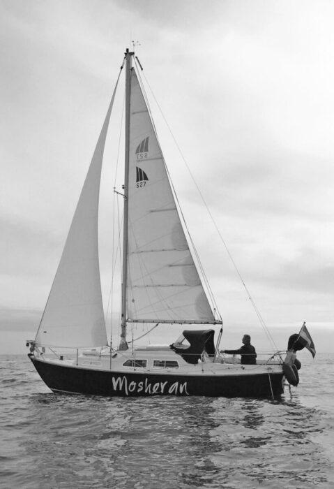Mosheran under sail
