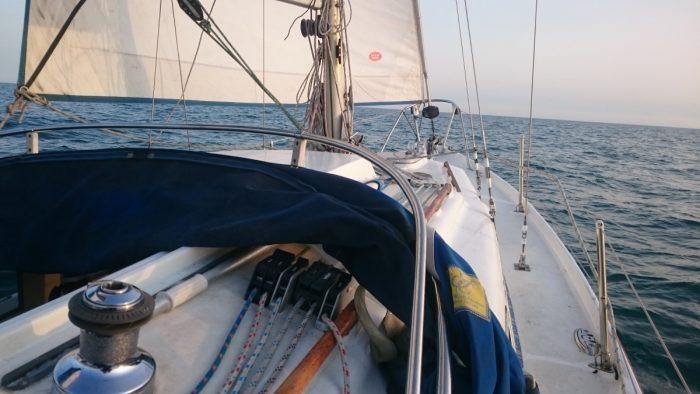 Sabreon crossing Lyme Bay