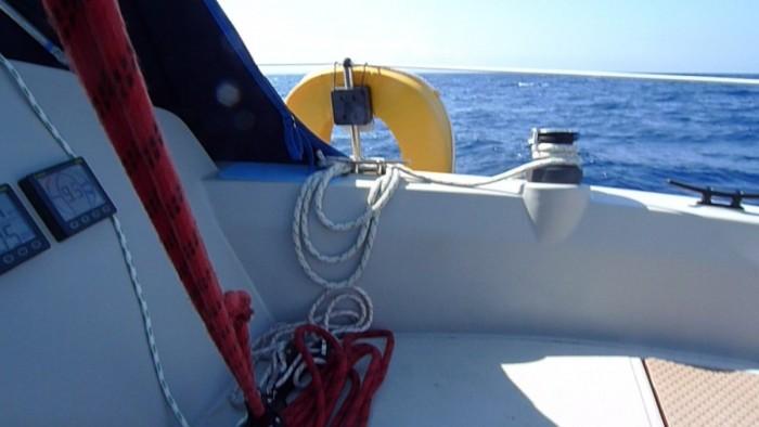 Scarab – Sabre 27 cockpit to starboard