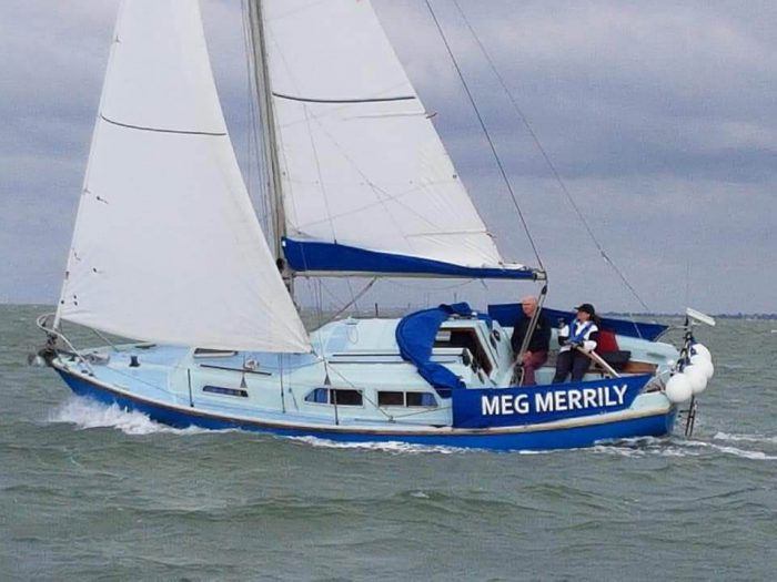 Sabre 27, Meg Merrily, under sail