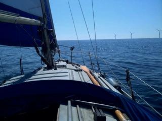 Duddon windfarm, off Barrow towards IOM
