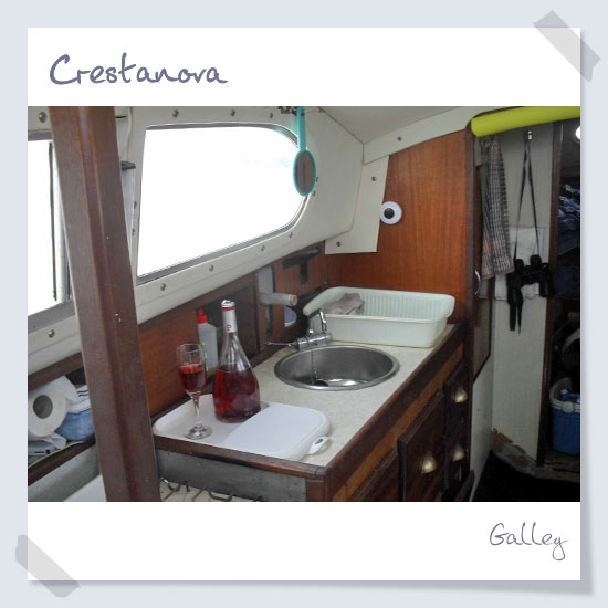 Companionway from cockpit