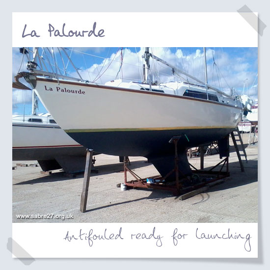 Antifouled ready for launching