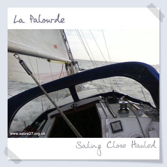 Sailing close hauled
