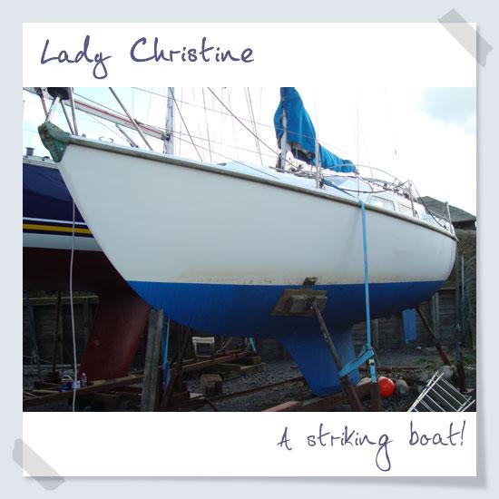 A striking boat!