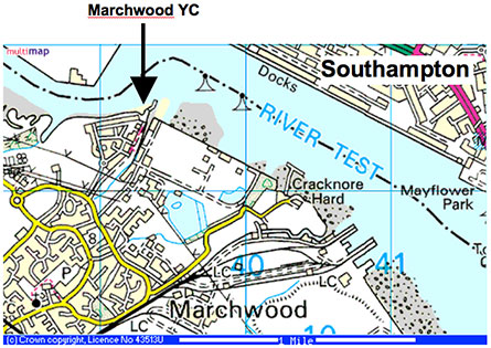 Marchwood Yacht Club Location