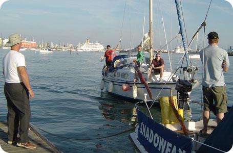 Approaching pontoon