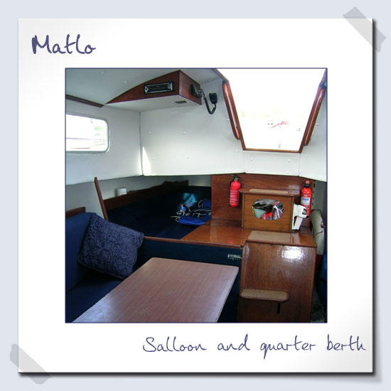 Saloon and quater berth