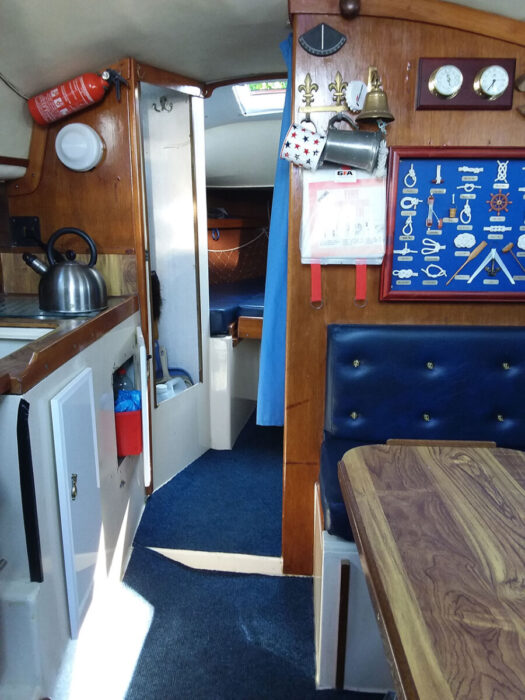 Samphire saloon and galley