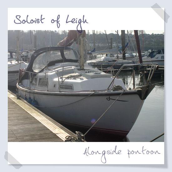 Alongside pontoon